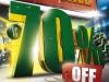 3D Christmas Sales Promotion Flyer Template