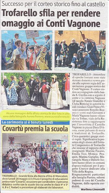 """Articolo de """"Il Mercoledì"""" del 29/05/2013"""